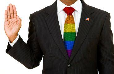 lgbt flag tie