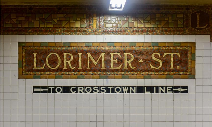 Lorimer street subway tiles