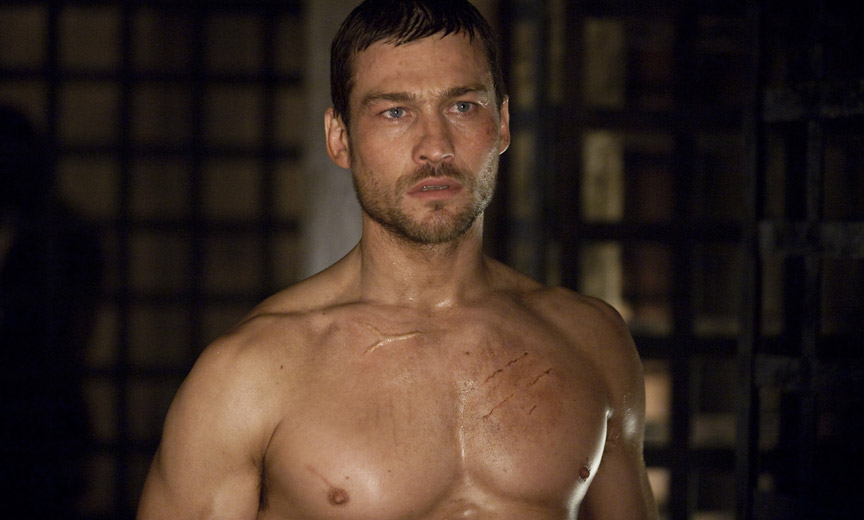 Actor Andy Whitfield in Spartacus