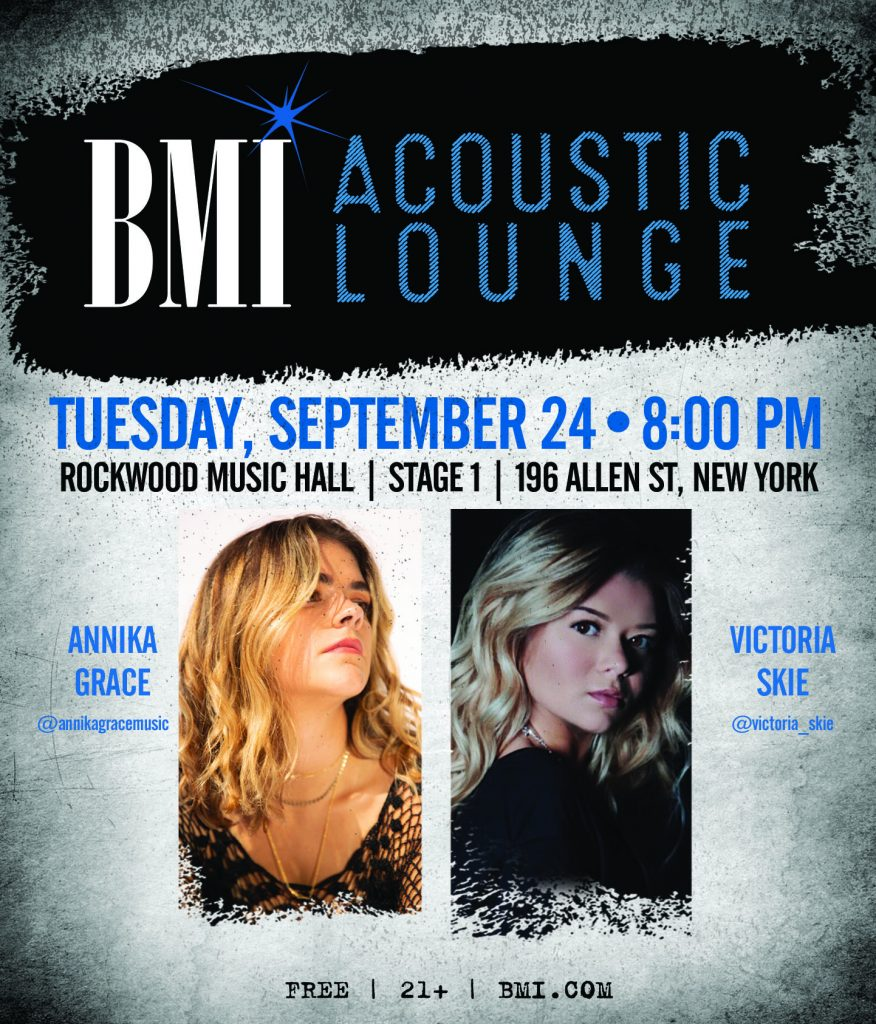bmi acoustic lounge poster