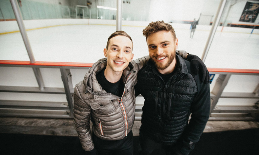 Adam Rippon with Gus Kenworthy