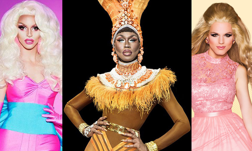 Miz Cracker, Shea Couleé and Derrick Barry