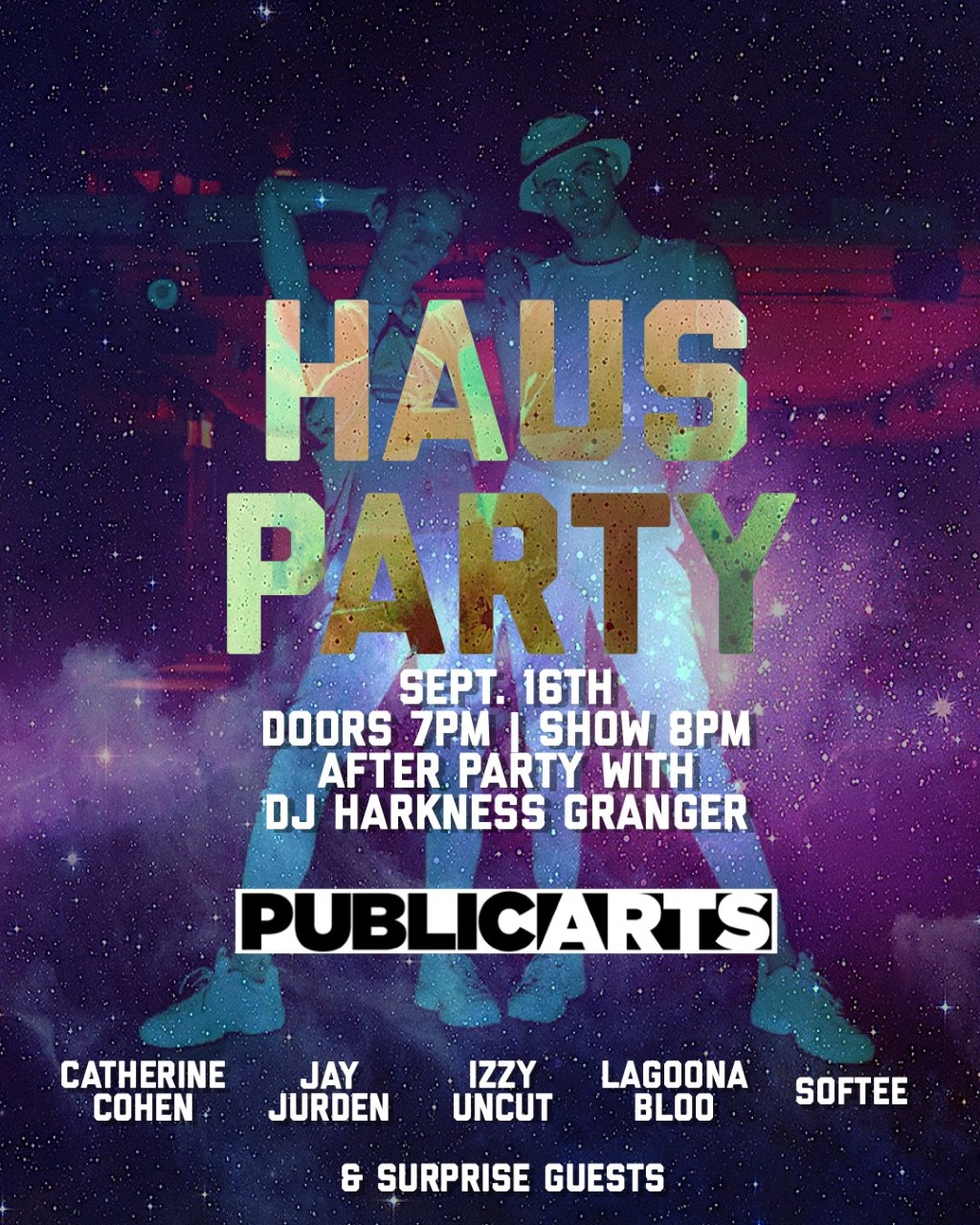 haus party event poster