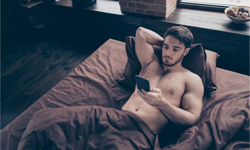Hot Guy in Bed