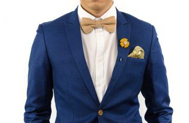 Man Wearing a Brooch