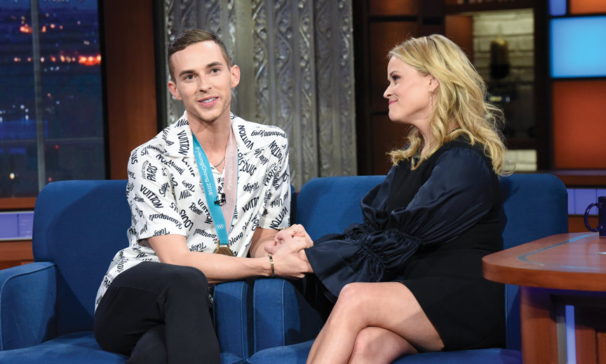 Adam Rippon with Reese Witherspoon