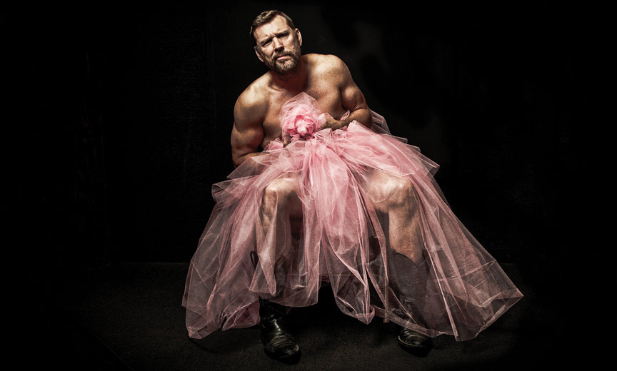 Burly Man in Pink Tulle