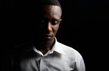 Depressed African-American man