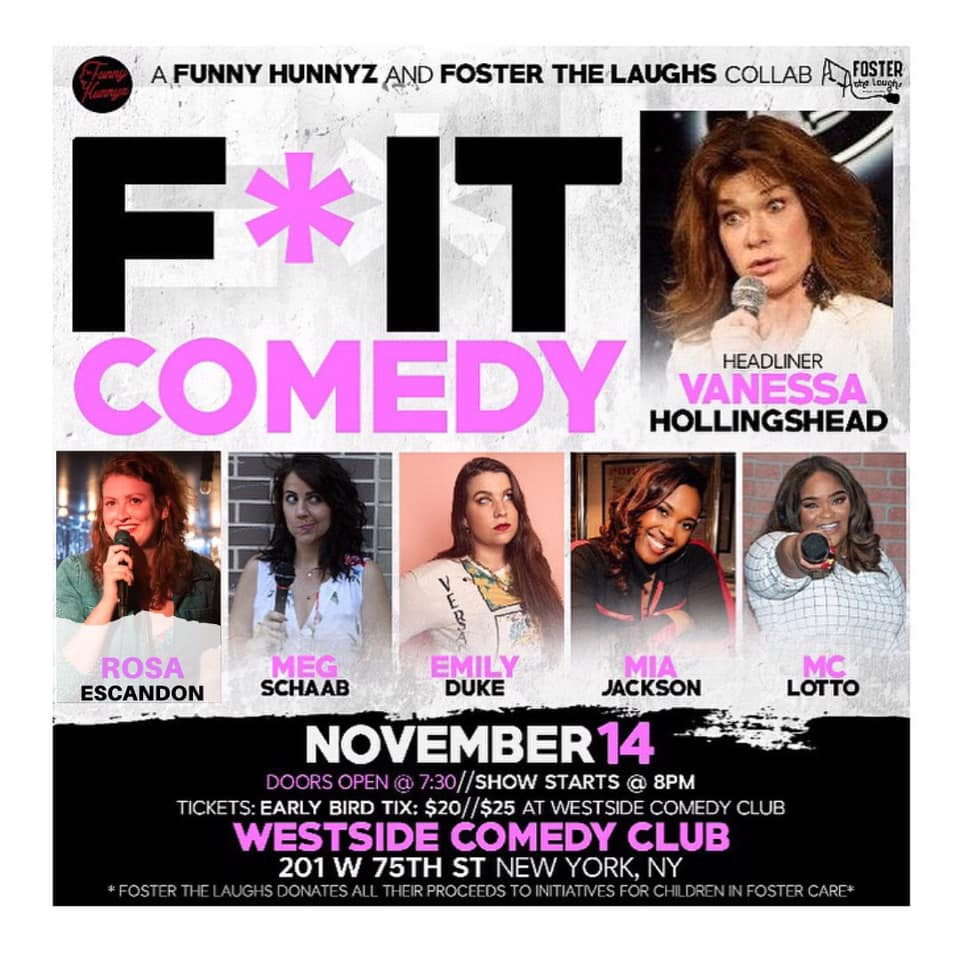 comedy poster with women