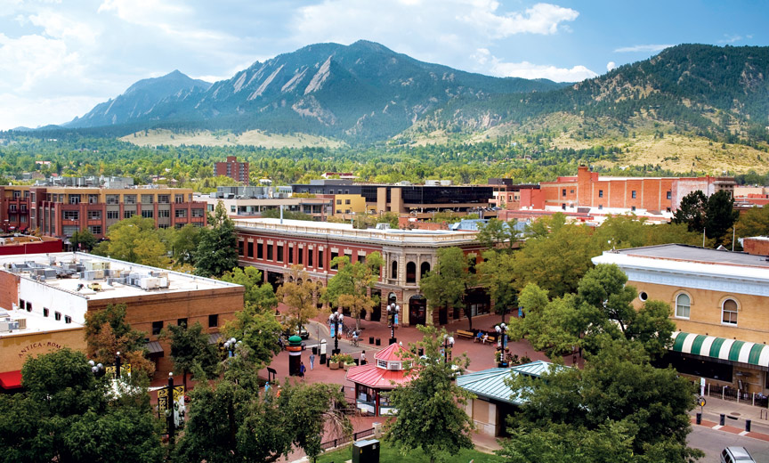 Arial View of Downtown Boulder