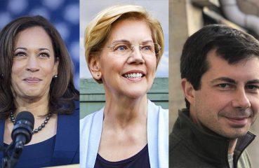 Kamala Harris, Elizabeth Warren, Pete Buttigieg