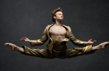 Dancer Suspended in Mid-Air