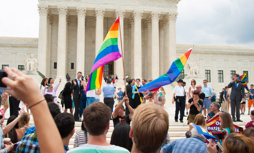 LGBTQ Protesters Outside the Supreme Court