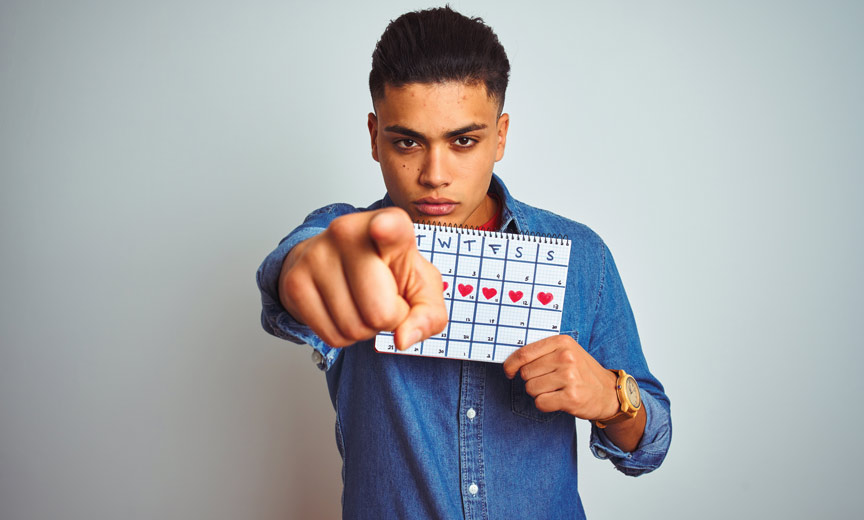 Guy With Calendar Pointing