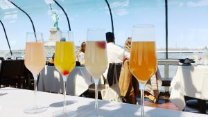 four mimosa style drinks