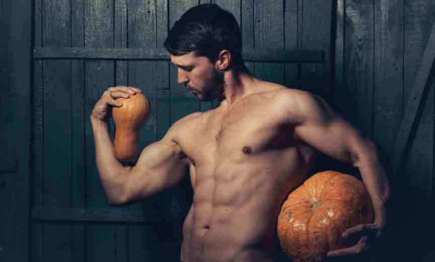 Sexy Guy with Gourds