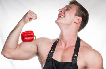 Shirtless Chef Flexing