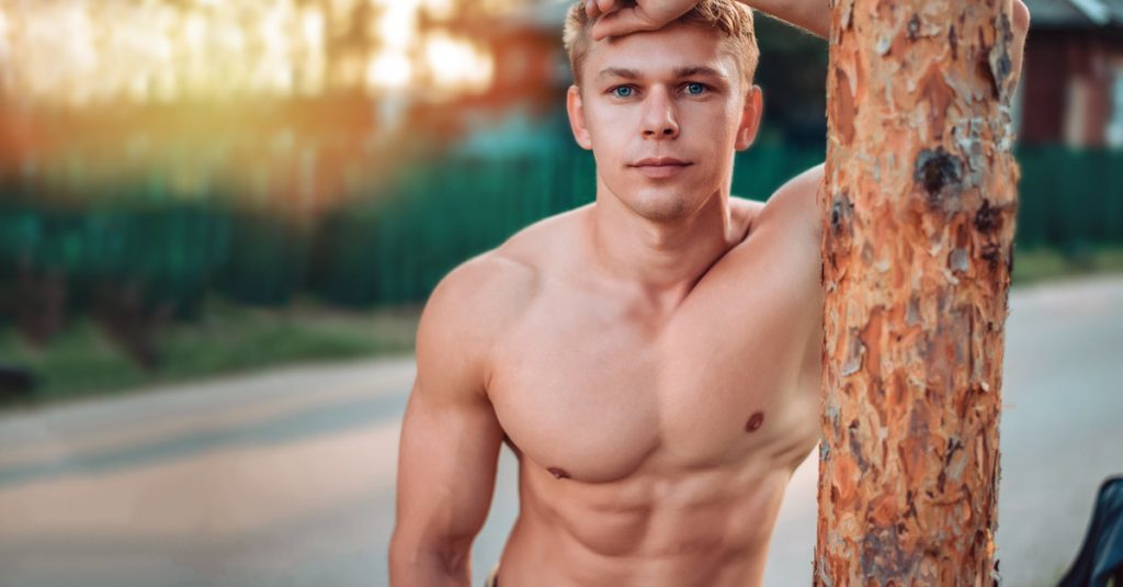 young and sexy blonde man