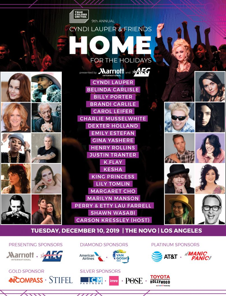 cyndi lauper home for the holidays